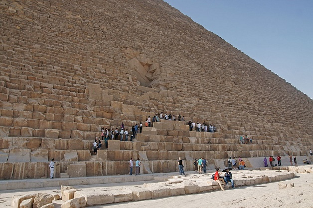 The Main Entrance of the great pyramid.