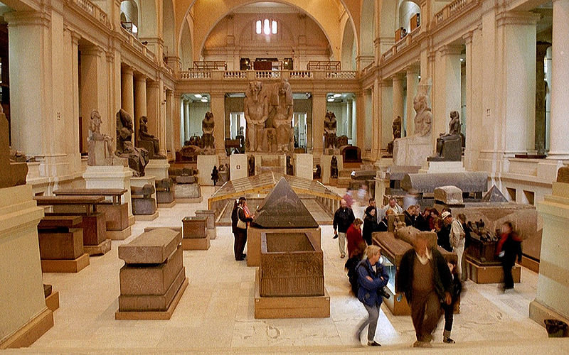 The Egyptian Museum from inside.