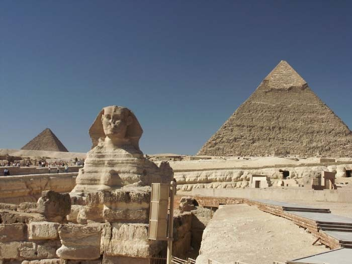 the Second Pyramid and the Sphinx of Giza.
