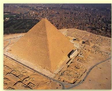 satellite view for the great pyramid of khufu.