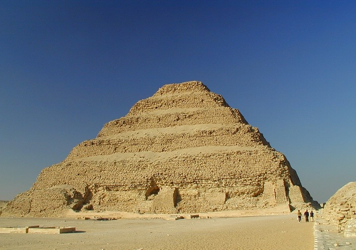 The step pyramid of Saqqara.