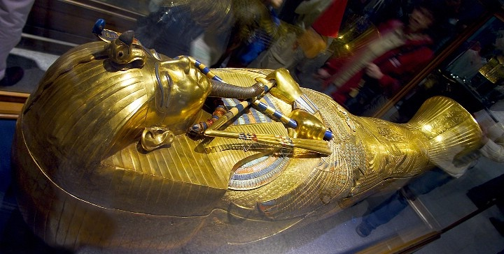 The Golden Coffin of Tutankhamun.
