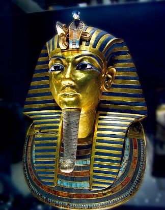 mask of king tutankamun, Egyptian museum.