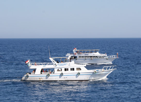 National Park of Ras Mohamed trip by boat