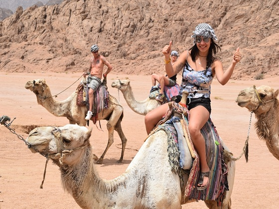 camel ride safari trip