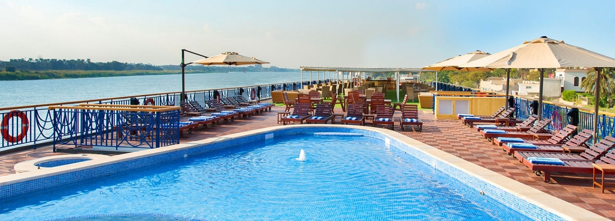 Amwaj Nile Cruise - Sun Deck - Swimming Pool