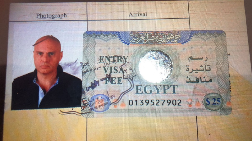 A visa on an immigration Card