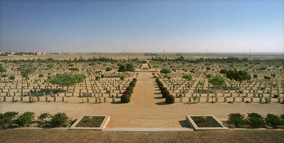 Alamein Commonwealth fallen soldiers cemetery